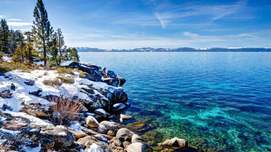 Lake Tahoe in winter wallpaper