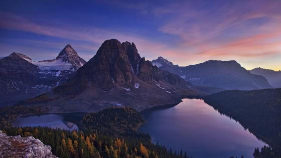 Assiniboine Mountain, Sunburst Peak, Cerulean Lake, Sunburst Lake - Mount Assiniboine Provincial Park wallpaper