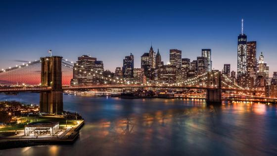 Brooklyn Bridge, Lower Manhattan wallpaper