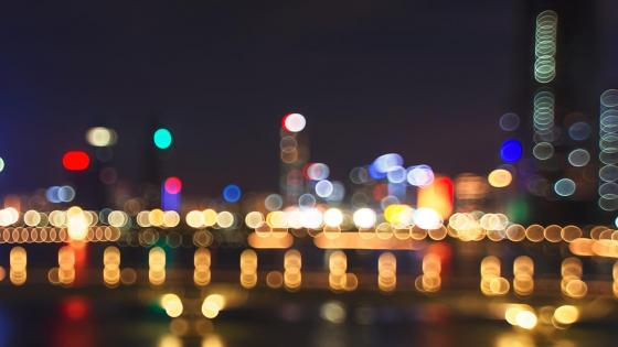 City light spots wallpaper