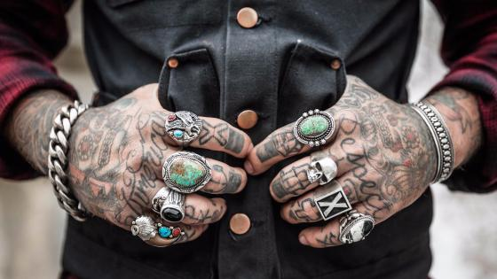 Tattooed hands wallpaper