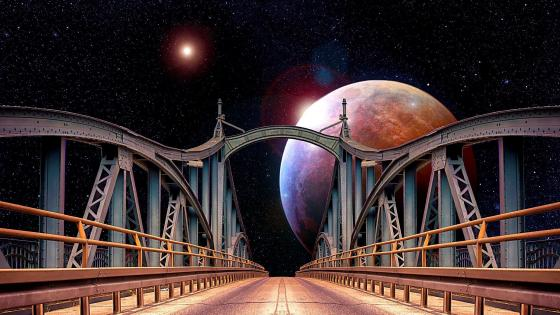 A Bridge on the universe wallpaper