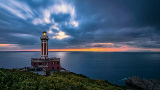 Punta Carena Lighthouse - Italy wallpaper
