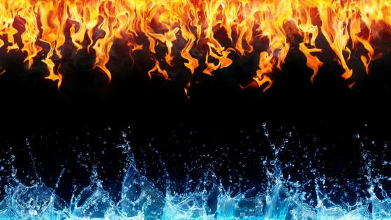 Water & Fire   wallpaper
