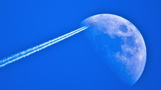 Fly into the moon wallpaper