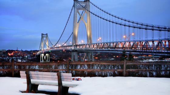 Mid-Hudson Bridge from Johnson-Iorio Memorial Park wallpaper