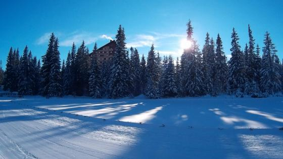 Strbske Pleso in winter wallpaper