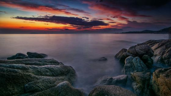 Halkidiki sunrise (Greece) wallpaper
