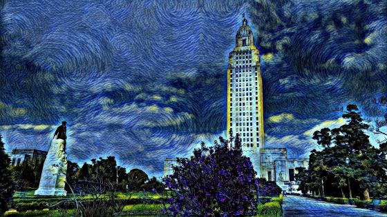 Baton Rouge Starry Night wallpaper
