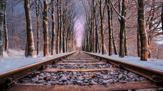 Rail tracks wallpaper