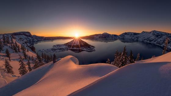 Wizard Island - Crater Lake National Park wallpaper
