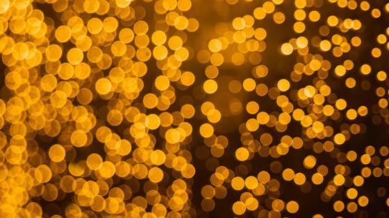Golden bokeh lights wallpaper