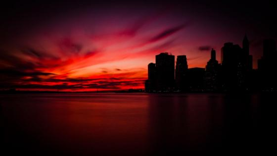 Dark sunset wallpaper