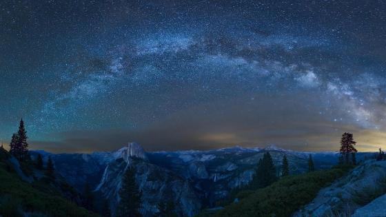 Glacier Point night view wallpaper