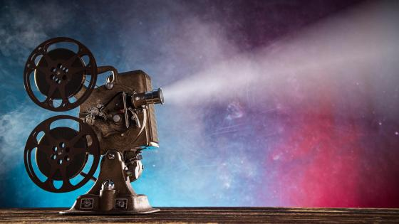 Vintage movie projector wallpaper