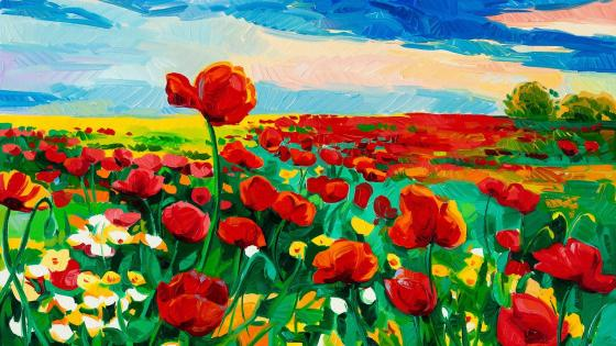 Tulips Painting wallpaper