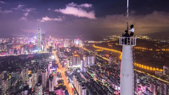 Shenzhen night scene wallpaper
