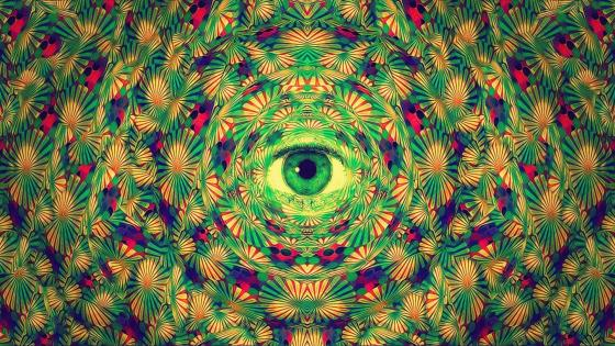 Trippy eye wallpaper