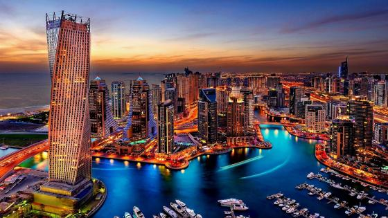 Dubai Marina Sunset wallpaper