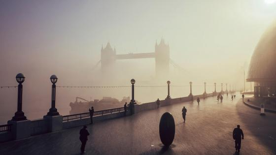 Tower Bridge in haze, London wallpaper