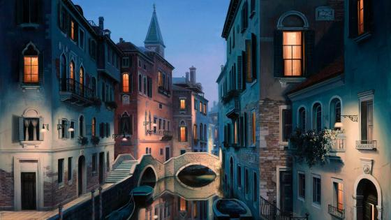 Venice - Painting art wallpaper