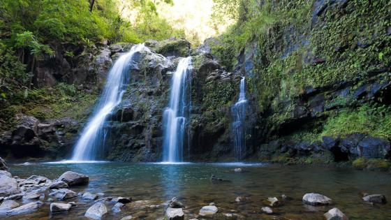 Triple Falls - Hana, Maui, Hawaii wallpaper