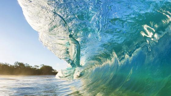 Huge wave wallpaper