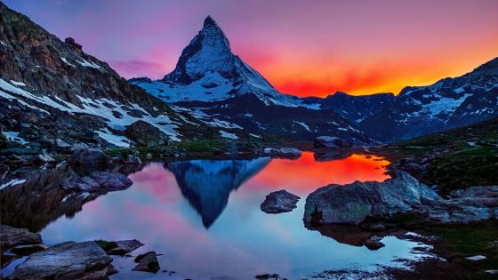 Matterhorn reflection wallpaper