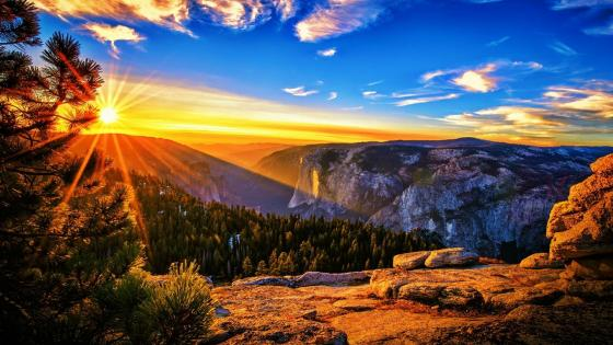 Sentinel Dome vista (Yosemite National Park) wallpaper