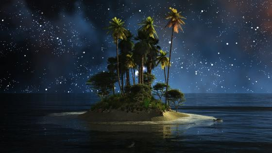 Uninhabited island - Fantasy art wallpaper