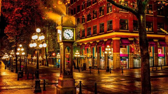 Downtown night (Vancouver) wallpaper
