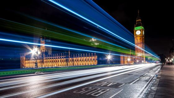 Westminster Bridge light trails- London wallpaper