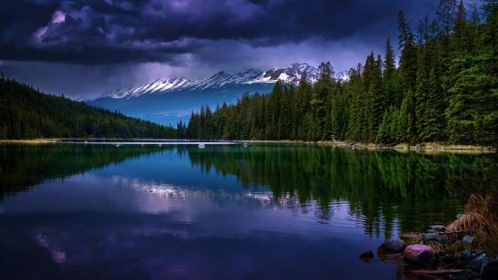 Valley of Five Lakes (Jasper National Park) wallpaper
