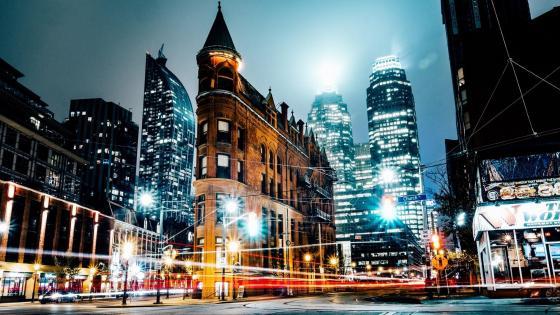 Gooderham Building between Front Street and Wellington Street, Toronto wallpaper