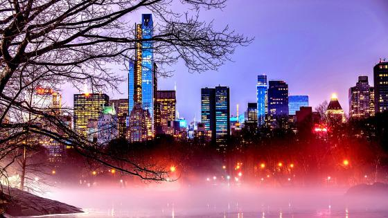 Manhattan view from Central Park wallpaper