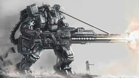 Mech art wallpaper