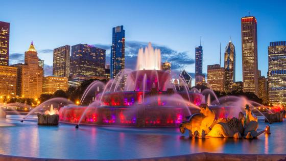 Buckingham Fountain (Chicago) wallpaper