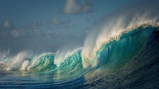 The Natural Great Wave off Kanagawa - Photoshop Art wallpaper