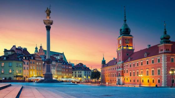 Royal Castle at Castle Square, Warsaw wallpaper