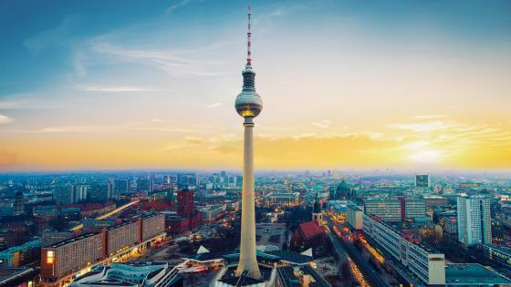 Fernsehturm TV tower in Berlin wallpaper