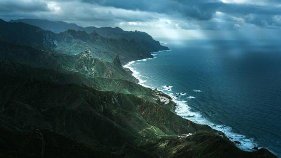 Tenerife aerial view wallpaper