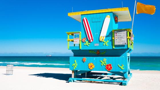 Colorful Lifeguard Tower wallpaper