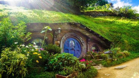 Hobbiton Movie Set (Matamata, New Zealand) wallpaper