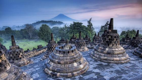 Borobudur Buddhist temple wallpaper