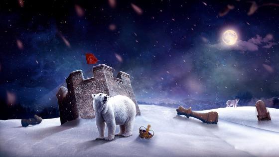Polar Bear fantasy art wallpaper