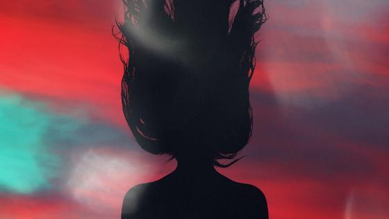 Girl silhouette wallpaper