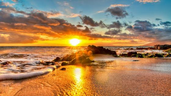 Sunset in Kihei (Hawaii) wallpaper