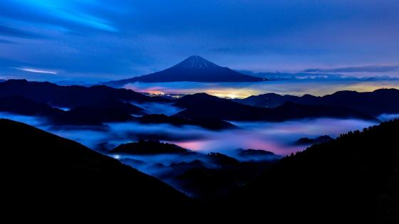 Mount Fuji morning wallpaper