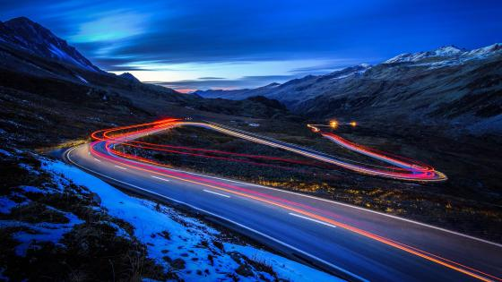 Light trails - Long Exposure Photography wallpaper