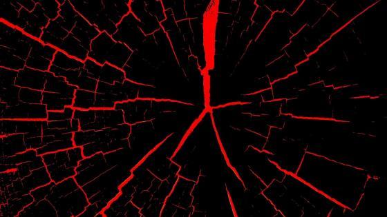 Red wood cracks wallpaper